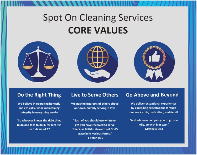 Spot On Cleaning Services Core Values